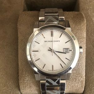 Burberry Sliver Swiss Watch womans